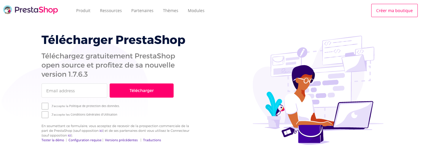 télécharger prestashop en local
