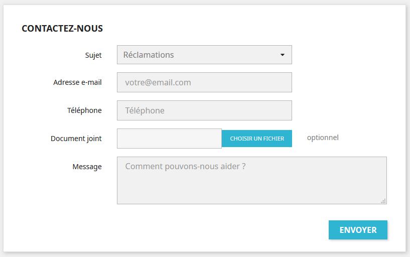 nouveau formulaire de contact Prestashop 1.7